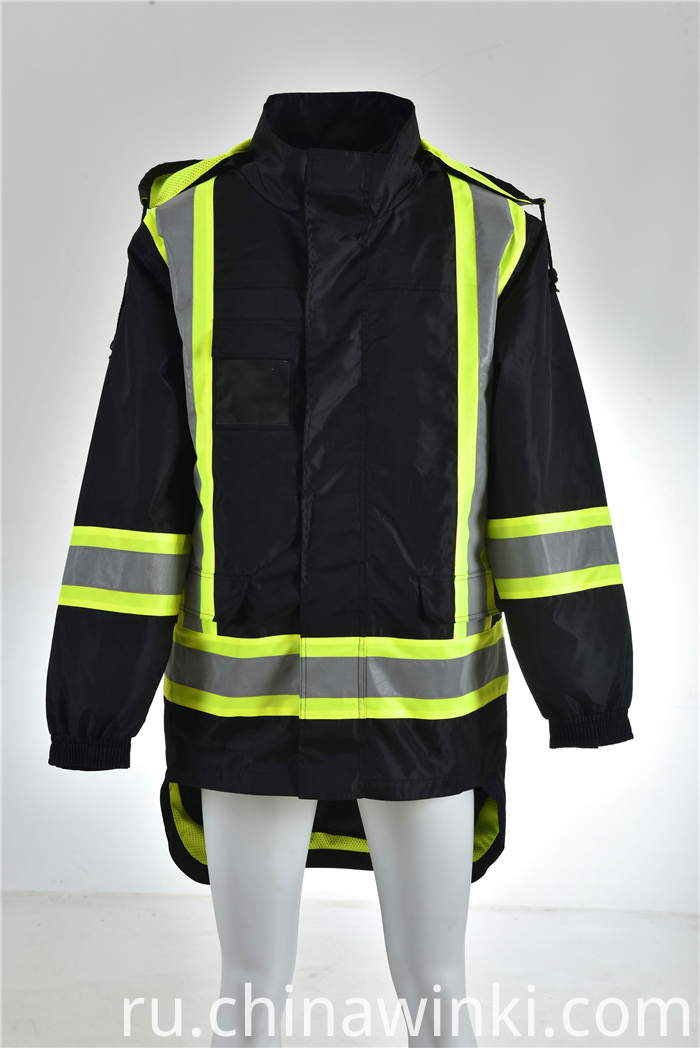 balck safety jacket